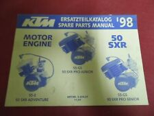 SPARE PARTS MANUAL MOTOR/ENGINE OCCASION KTM 50 SXR PRO JUNIOR+ADVENTURE 1998