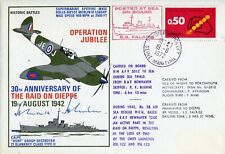 WW2 RAF ace Johnnie Johnson signed Raid on Dieppe cover - UACC DEALER