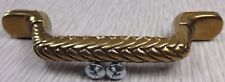 "NEW Belwith Heavy Antique Brass Ornate Zig Zag 4 5/8"" Cabinet Drawer Pull Screws"