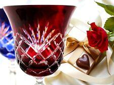 Wine Glasses Roman Lead Glass 6 Pieces (421KK), Coloured Roman Crystal Wine Lens