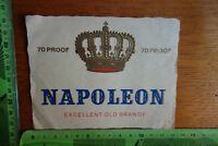 Alter Aufkleber Genuss Nahrung Getränke Etikett Napoleon Excellent old Brandy