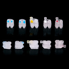 Us 3m Dental Orthodontic Ceramic Bracket Roth Mbt 022 018 Slot 3 4 5 Hooks Mesh