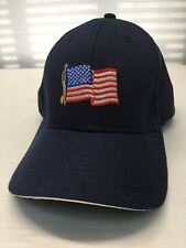 Ceasars Palace Hat Cap Blue Casino American Flag Embroidered NEW