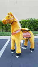 PonyCycle No Electric Kid Powered Ride On Toy BROWN Horse for MED 4 to 9 Year