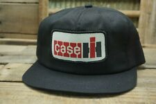 Vintage CASE IH Snapback Trucker Patch Cap Hat K PRODUCTS Made In USA