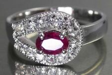 White Natural Ruby Fine Rings