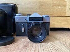 Vintage Zenit E 35mm SLR film camera  with case