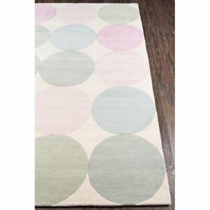 Delmar Polka Modern Hand-Tufted 100% Wool Soft Area Rug Carpet