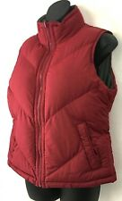 Big Chill Womens Puffer Vest Reversible Red Gray Sleeveless Outdoor Coat Size M