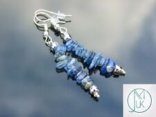 Kyanite Natural Chip Gemstone Earrings Drop Quartz Crystal Chakra Healing Stone