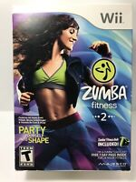 NIB Zumba Fitness 2 (Nintendo Wii, 2011) KIT - Includes Game, Belt.FAST FREE SHP