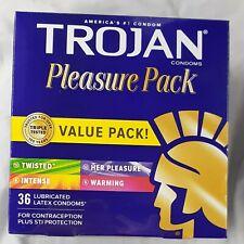 Trojan Lubricated Condom Pleasure Pack - 36 Count