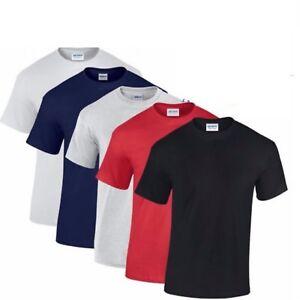 Gildan Mens T Shirt 100% Heavy Cotton Tshirt Tshirts Multi Colors 1 3 5 Pack Lot