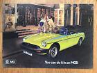 MG MGB Roadster Brochure 1974 - British Leyland Publication 3041/A