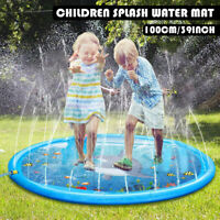 39'' Inflatable Splash Water Mat Pad Kids Child Outdoor Pool Beach Lawn Play Toy
