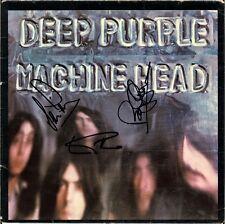DEEP PURPLE Machine Head VINYL LP Ian Gillan Roger Glover Paice Autograph SIGNED
