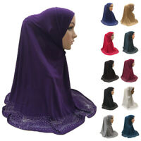 Muslim Women Hijab Amira Ladies Islamic Stretch Head Scarf Shawl Wrap One Piece