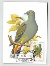 S.TOME MK 1979 VÖGEL TAUBE GRÜNTAUBE PIGEON DOVE CARTE MAXIMUM CARD MC CM m277/