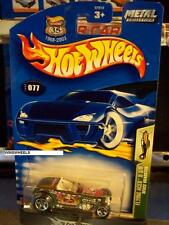 HOT WHEELS 2003 #77 -1 DEUCE ROADSTER BLK CHINA 03 MTL CARD
