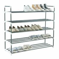3/5/7 Tier Shoe Stand Storage Organiser Rack Metal Heavy Duty Compac Space Save