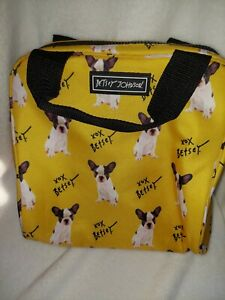 Betsey Johnson Pug Puppy Dog Pet Lunch Tote Insulated