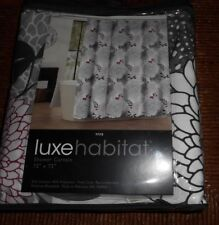 LUXE HABITAT SHOWER CURTAIN MULTI-COLOR FLORAL NEW
