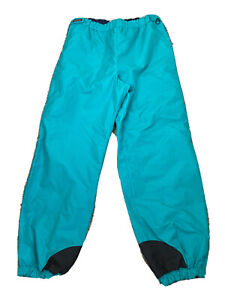 Columbia Mens Waterproof Ski Snow PANTS Teal Green Size XL Full Side Zip