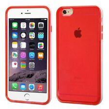 Fundas y carcasas transparente de color principal rojo para teléfonos móviles y PDAs