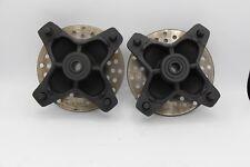 2 x Front wheel hubs & brake rotors Yamaha Raptor 660 700 YFZ450 2004-2013 BLACK