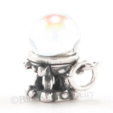 3D CRYSTAL BALL stand 925 Sterling Silver Halloween Fortune Teller Pendant Charm