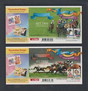 2007 $5 HORSE RACING BOOKLETS SET 2 B/C 2 & SET 3 B/C 3 OPT'D SYDNEY EXPO MNH(2)