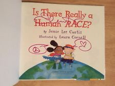 SIGNED by Jamie Lee Curtis - Is There Really A Human Race?  HC 1st/1st + Pic