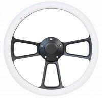 Volkswagen Black & White Steering Wheel Kit  1960 - 1973 VW Bug  Kharmann Ghia