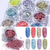 Nail Glitter Powder Holographic Irregular Sequins Mixed Size Nail Art Decoration