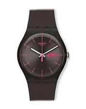 Swatch Quarz - (Batterie) Armbanduhren mit Silikon -/Gummi-Armband für Herren