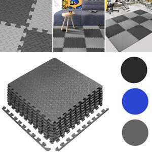 12MM Thick Interlocking EVA Floor Mats Exercise Gym Yoga Flooring Mat 60CMx60CM