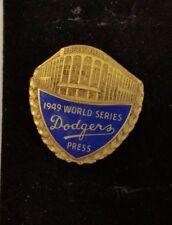 1949 World Series Dodgers Press Pin