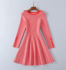 Dress Factory Wholesale Runway Button decorate Gewen knitting Long sleeve