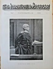 Bismarck, German Chancellor, Military, Portrait, Vintage 1890 Antique Art Print