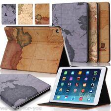 * map-Design ipad air 2/iPad 6 Housse de protection + Film sac smart cover case étui *