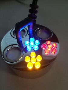 3-fach Nebler mit Farbwechsellicht LEDs, Ultraschall-Zerstäuber, Teichnebler