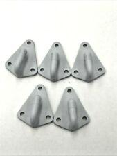 5 Zurrösen Planenhaken Dreiloch grau Kunststoff PKW Anhänger  NEU Kunststoff