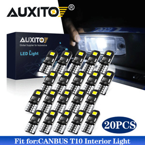 20X CANBUS LED Interior Wedge License Plate Light Bulb T10 W5W 194 168 2825 168