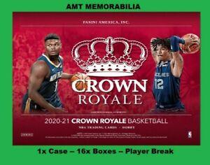 Rudy Gobert Utah Jazz 2020/21 20/21 Panini Crown Royale 1X CASE 16X BOX BREAK #4
