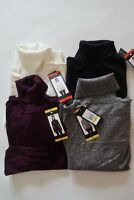 NEW ANDREW MARC Womens Turtleneck Sweater Purple/Black/White/Grey Sizes Vary