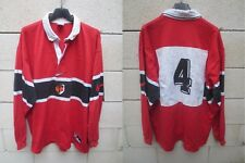 Maillot rugby STADE TOULOUSAIN n°4 NIKE 1998 shirt coton ancien vintage L