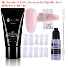 30ml UR SUGAR Quick Poly Building Gel UV Builder False Nail Tips Clip Pen Set