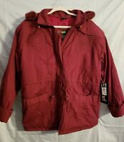 Women's Mariel Removable hooded zipper snap front Winter Coat Size Large NWT