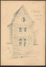 Tongeren Béguinage Armand HEINS Ancienne planche avec croquis de facade