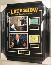 David Letterman Farewell Photo & Ticket Collage Framed SIZE 25x29